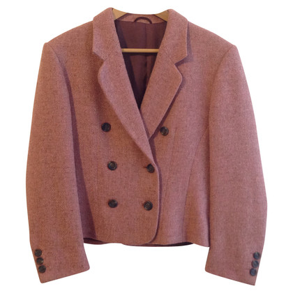 Burberry Pink Tweed Blazer