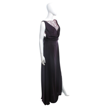 Talbot Runhof Aubergine colored dress