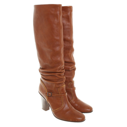 Furla Brown leather boots