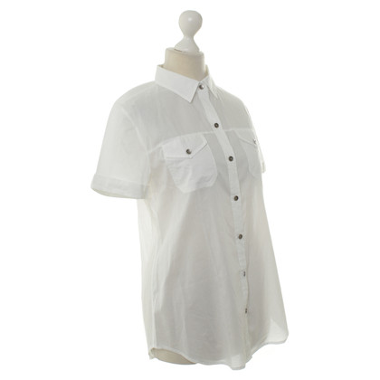 7 For All Mankind Camicia manica corta bianco
