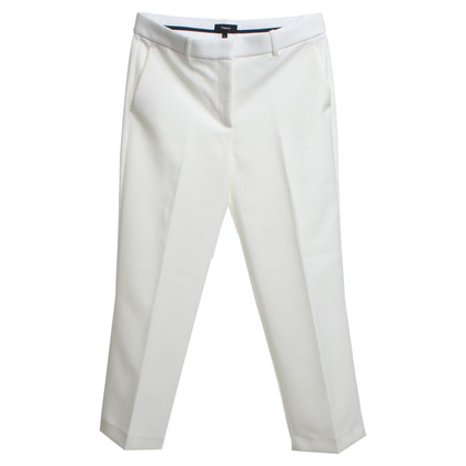Theory trousers in cream white