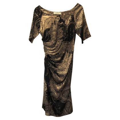 Etro Kleid in Schwarz und Gold