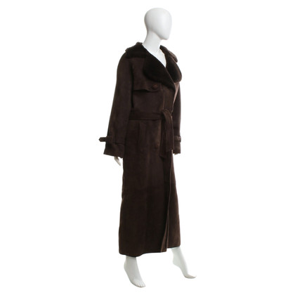 Christian Dior Coat met lamsvel