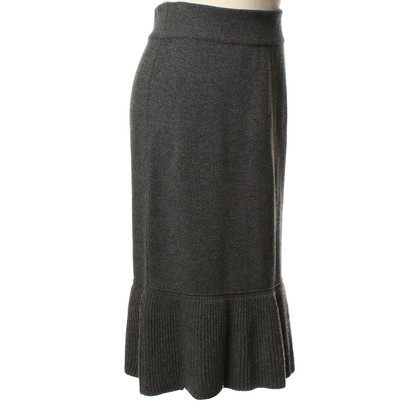 Sonia Rykiel Knit skirt in dark grey