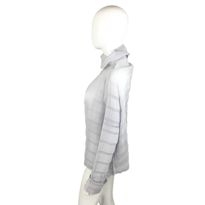 Issey Miyake Turtleneck blouse with pleats