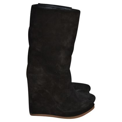 Jil Sander Wildleder-Ankle-Boots