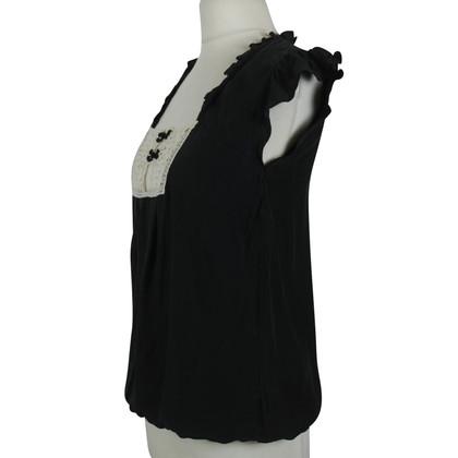 Sandro silk blouse