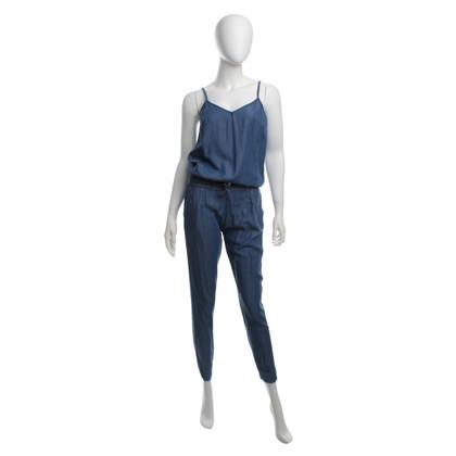 Rich & Royal Blauer Jumpsuit in Denimoptik