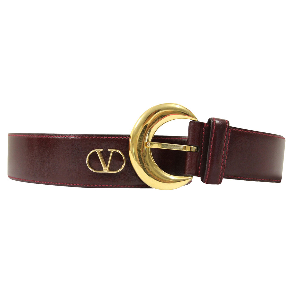 Valentino Belt in Bordeaux red