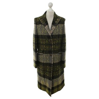 Etro Wollen jas met groene patroon