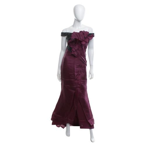 Escada Evening Dress In Black Purple