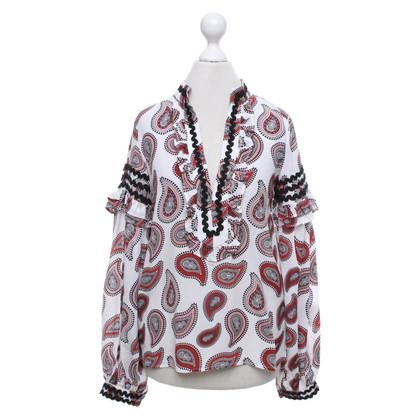 Dodo Bar Or Zijden blouse met patroon