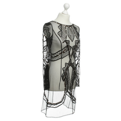 Alice By Temperley Transparent dress in black