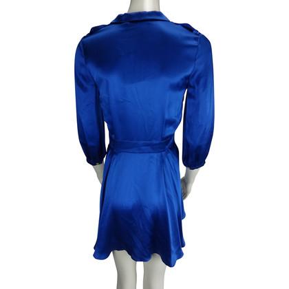 Pierre Balmain Blaues Seidenkleid