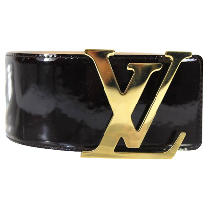 Louis Vuitton Gürtel Initialen Vernis-amarante