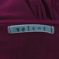 Velvet Top nel colore Fucsia