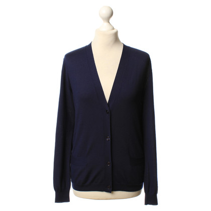 Hermès Kaschmir-Cardigan in Blau