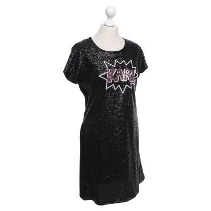 Karl Lagerfeld Kleid mit Pailletten-Besatz