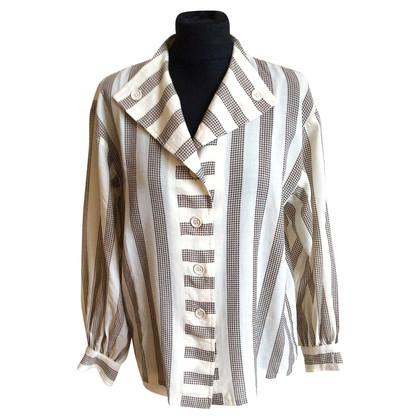 Yves Saint Laurent Blouse long sleeve striped