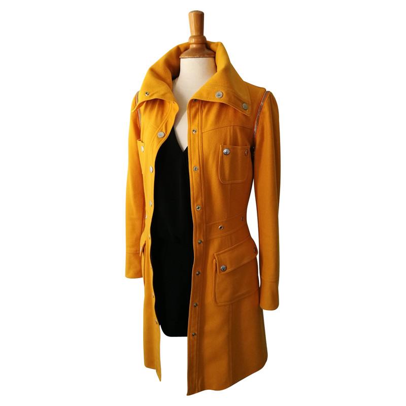 Dolce & Gabbana JackeMantel aus Wolle in Gelb Second Hand