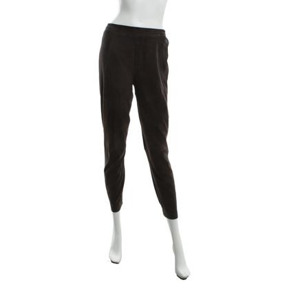 Steffen Schraut Pantaloni di pelle marrone
