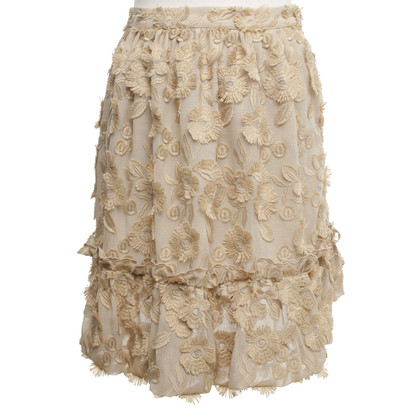 Moschino skirt with floral embroidery