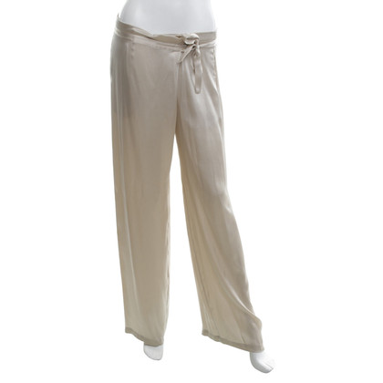 P.A.R.O.S.H. Silk trousers in champagne