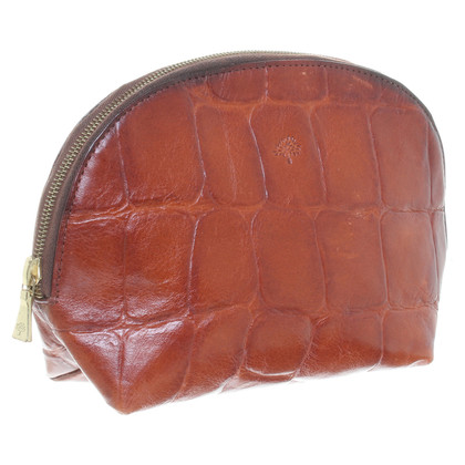 Mulberry Pouch with reptile embossing