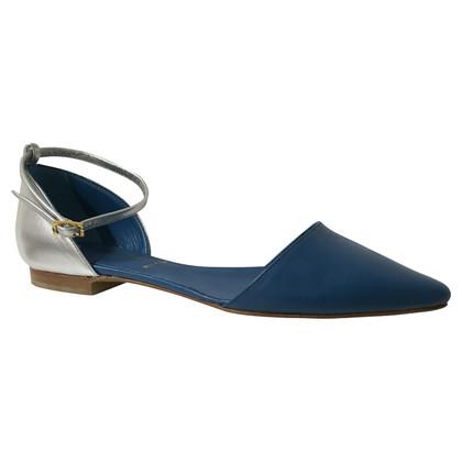 Baldinini Flats in Silver/Blue