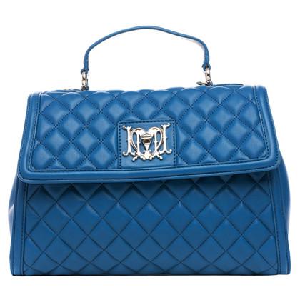 Moschino Love Borsa blu trapuntato