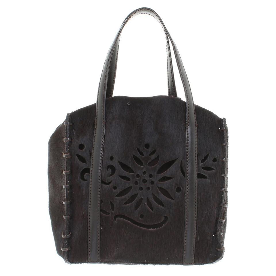 Hugo Boss Handbag with pony fur trim