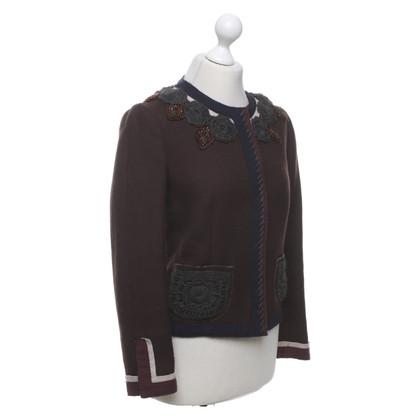 Prada Short jacket with ornament