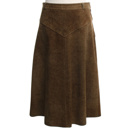 Borbonese Leather skirt with lizard print