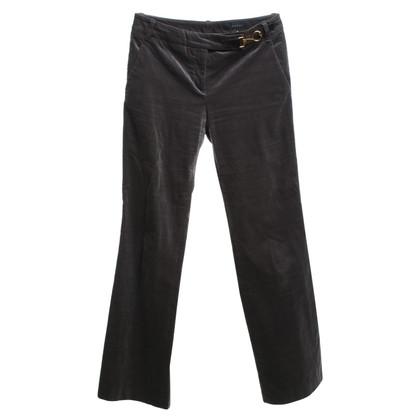 Gucci Fluwelen broek in grijs