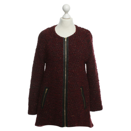 Alice + Olivia Bouclé jacket in red