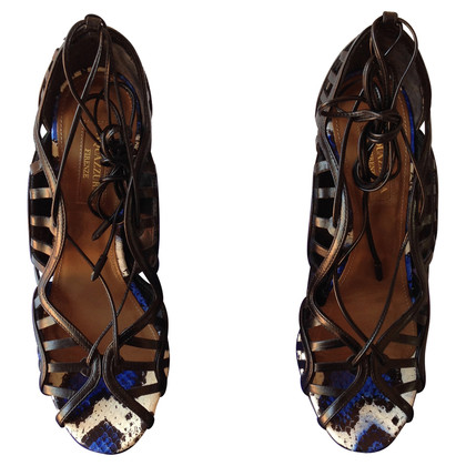 Aquazzura Sandaletten aus Pythonleder