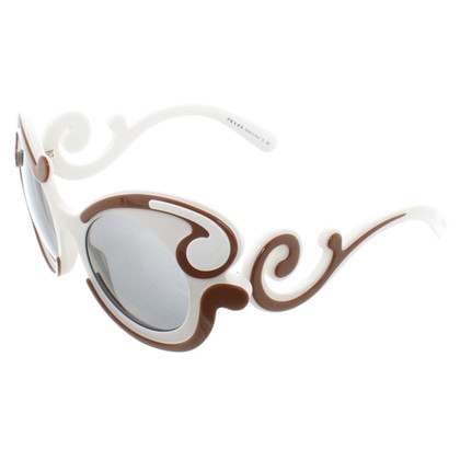 Prada Sunglasses in white / brown