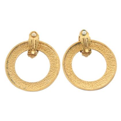 Chanel Gouden clip oorbellen