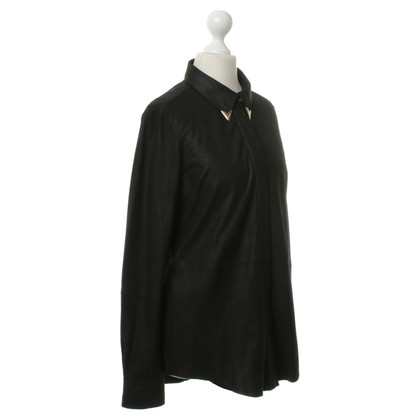 Equipment Blusa in pelle nero