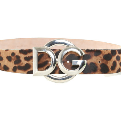 Dolce & Gabbana Belt with leopard print