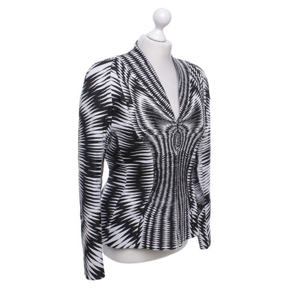 Mugler Bustier & jacket with pattern