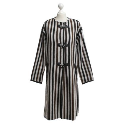 Isabel Marant Etoile Lange jas in de strip-Look