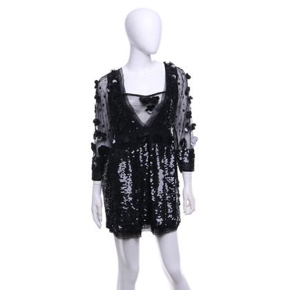 Roberto Cavalli Sequined dress in black