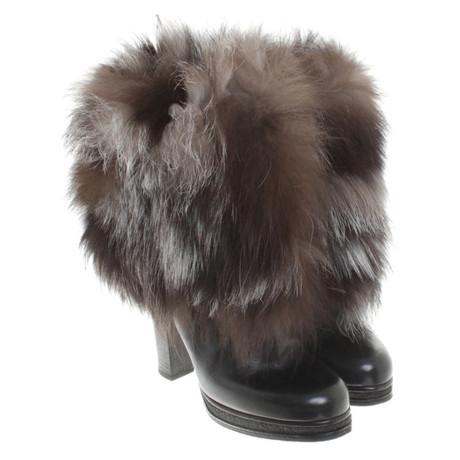 Stiefel Dolce Schwarz Dolce amp; Fell mit Gabbana amp; wp1qIg