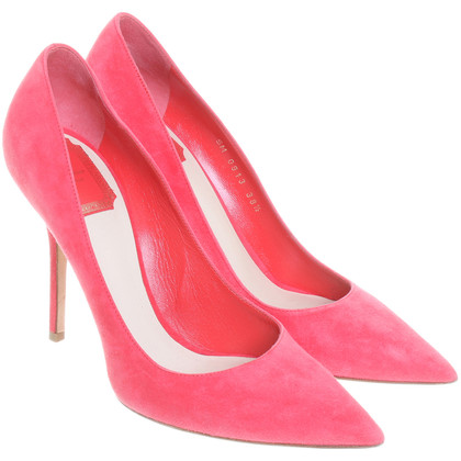 Christian Dior pumps in koraal rood