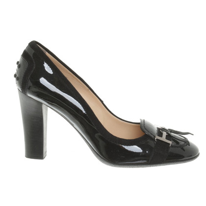 Tod's Patent Leather Pumps in Black
