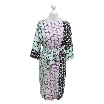 Diane von Furstenberg Silk dress with dots pattern