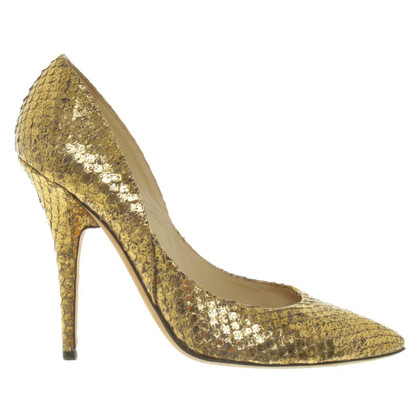 Jimmy Choo Gold color pumps