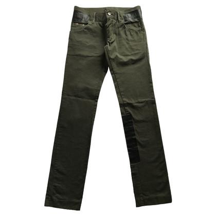 Dolce & Gabbana Kaki trousers with rubber