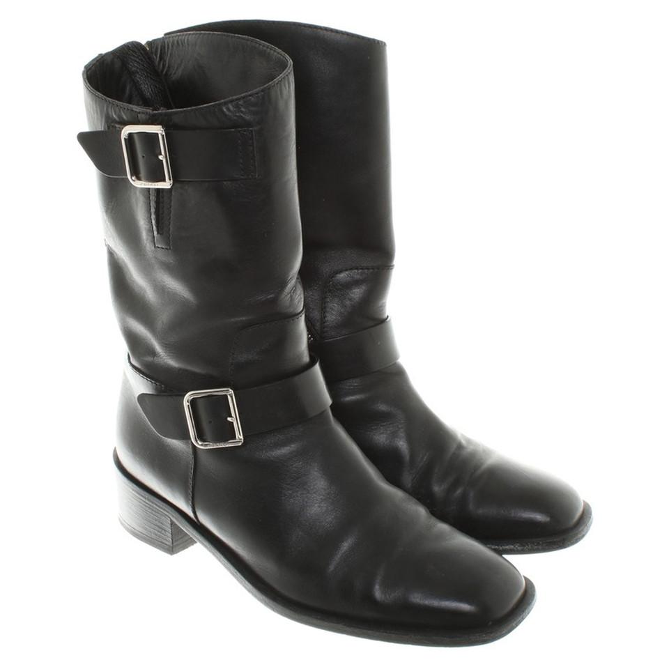 Chanel Biker boot in black - Buy Second hand Chanel Biker ... - photo #6